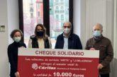 Repsol Elomendi Areta y Ecogaser La milagrosa donan 10.000 euros a Cáritas