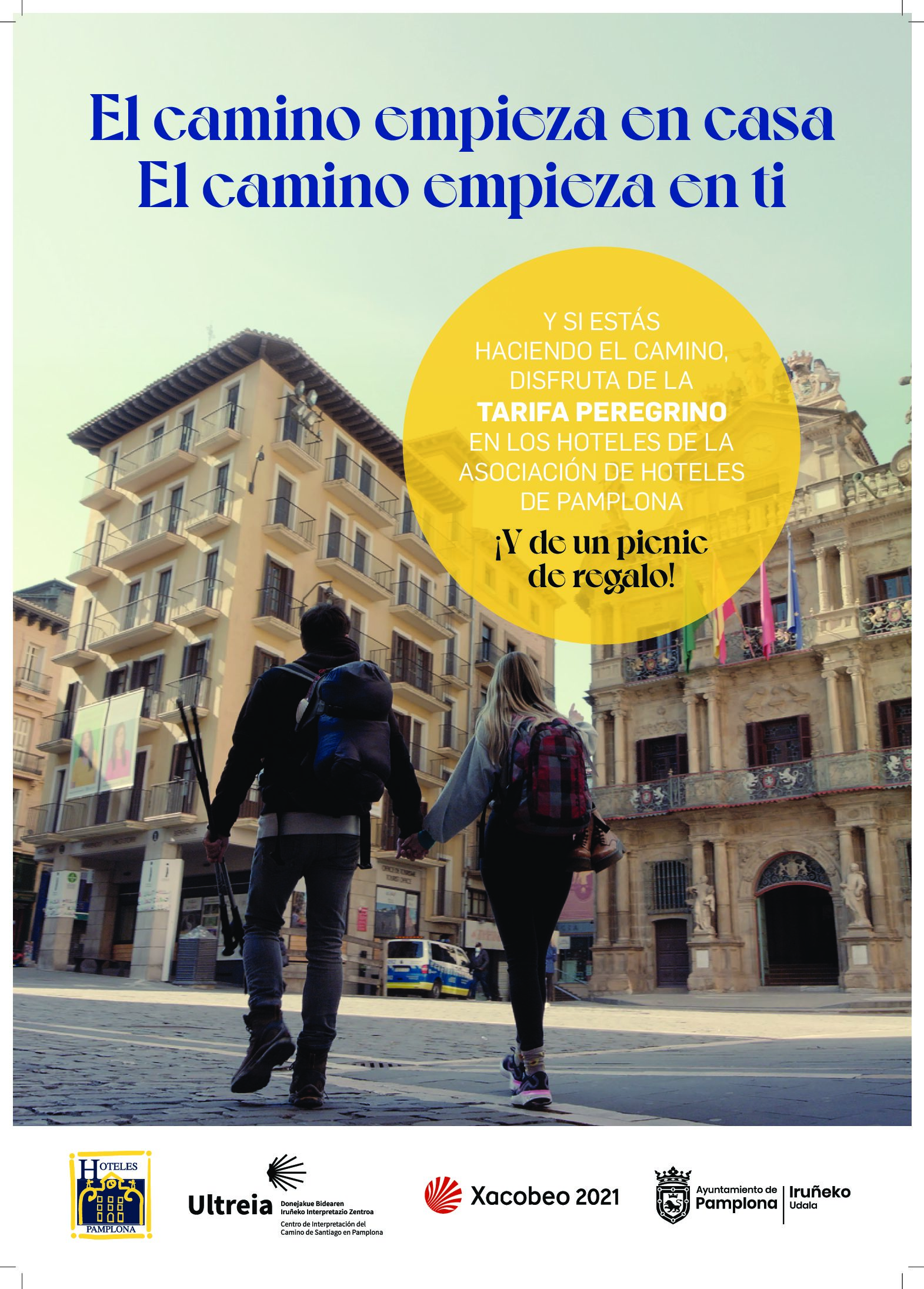 El Ayuntamiento de Pamplona propone celebrar este Año Jacobeo recorriendo el Camino de Santiago a su paso por la ciudad