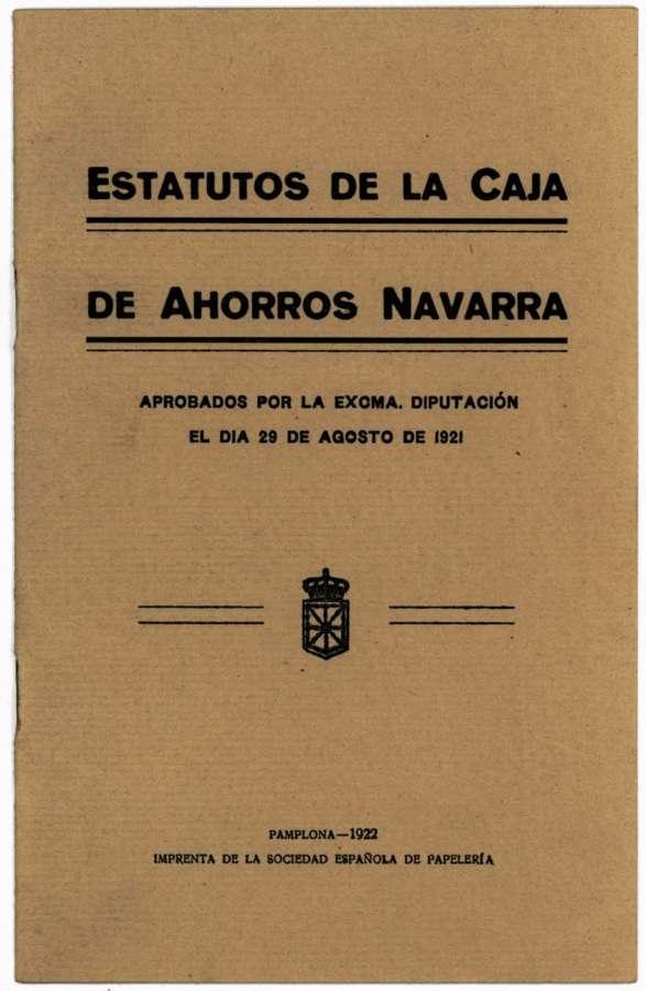 El Archivo organiza una microexposición sobre el centenario de la Caja de Ahorros de Navarra