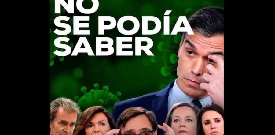 """14-M: """"No se podía saber"""", el vídeo del PP que denuncia la """"nefasta gestión"""" de la pandemia de Sánchez"""
