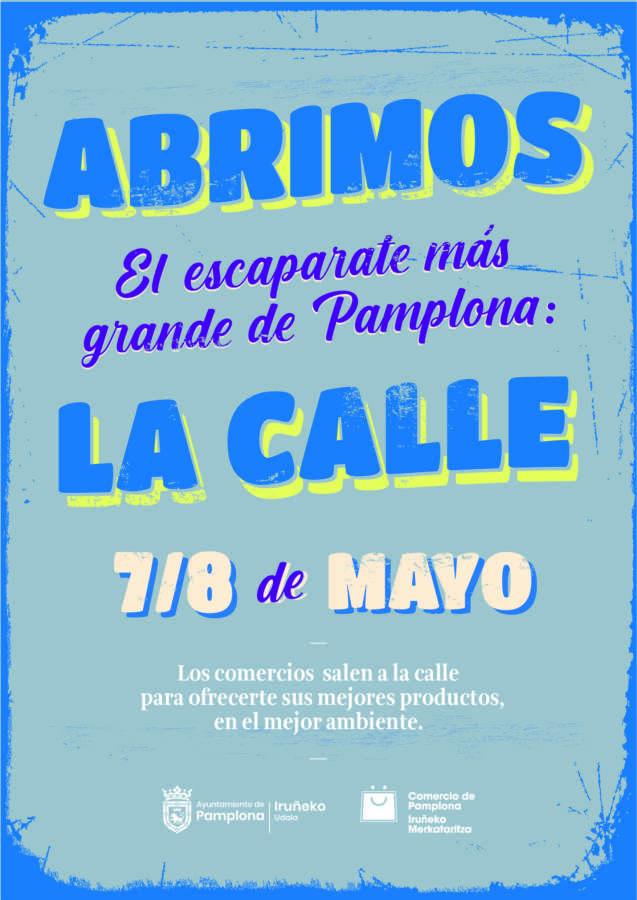 El comercio de Pamplona sale a la calle