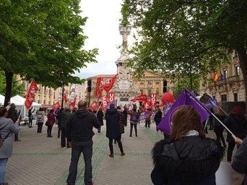 """1 de mayo: UGT y CCOO en Navarra piden que se """"cumpla"""" el compromiso con los trabajadores"""
