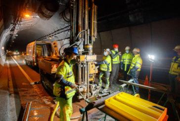 Obras Públicas sondea el subsuelo del túnel de Belate para determinar la resistencia de rocas con más de 250 millones de años de antigüedad