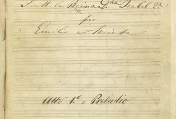 El Archivo de Navarra acoge una microexposición sobre el compositor Emilio Arrieta